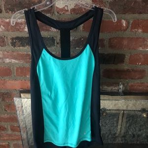 Navy/turquoise Athletic tank top size S